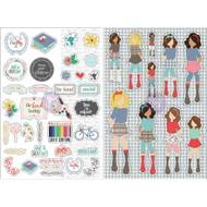 Prima Marketing Planner Monthly Stickers -September - By Julie Nutting