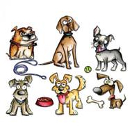 Sizzix Framelits by Tim Holtz - Crazy Dogs (661593)