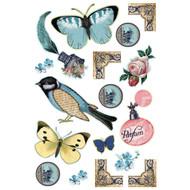 Art C Foam Stickers - Vintage Butterfly - 25135