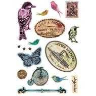 Art C Foam Stickers - Inspire Vintage Birds 25133