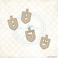 Blue Fern Studios - Chipboard - Dreidel Set