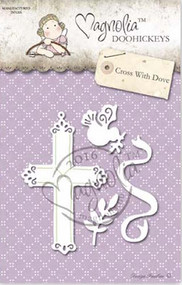 Magnolia Stamps DooHickey - Aspen Holidays - Cross With Dove