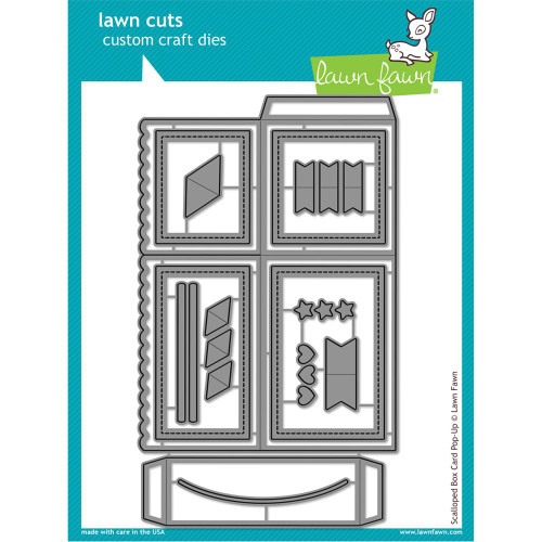 Lawn Fawn - Lawn Cuts -Scalloped Box Card Pop-Up (LF1376)