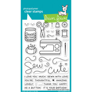 Lawn Fawn - Clear Stamps - 4x6 - Sewn With Love (LF1309)