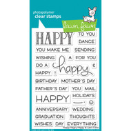 Lawn Fawn - Clear Stamps - 4x6 - Happy Happy Happy (LF1334)