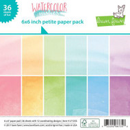 Lawn Fawn - Petite Paper Pack - Watercolor Wishes - Perfectly Plaid (LF1355)
