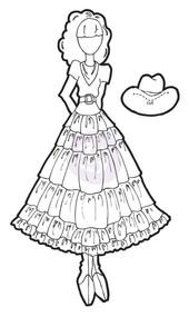 Prima Marketing - Julie Nutting Doll - Stamp - Annie (PM-911669)