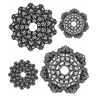 Tim Holtz Cling Rubber Stamp Doily (CMS254)