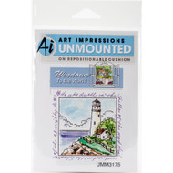 Art Impressions - Cling Rubber Stamp - Windows to the World - Lighthouse Window (AI3175)