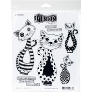 Dylusion's Cling Mount Stamps - Puddy Cat (DYR53675)