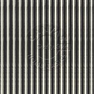 7Gypsies - 12 x 12 Scrapbook Paper - Black & Ivory French Linen Stripe
