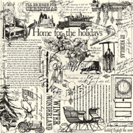 7Gypsies - 12 x 12 Scrapbook Paper - Farmhouse Christmas On Ivory