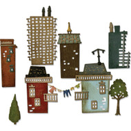 Sizzix Thinlits Dies By Tim Holtz - Cityscape, Suburbia (TH661811)