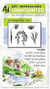 Art Impressions - Watercolor Cling Rubber Stamp - Foliage Set 2