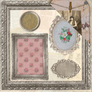 "7 Gypsies Architextures Cardstock 12""X12"" - Ornate Frames"