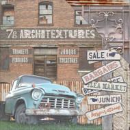 """7 Gypsies Architextures Cardstock 12""""X12"""" - Junk'n"""