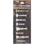 7 Gypsies Architextures Findings Adhesive Embellishments - Painted Candlesticks