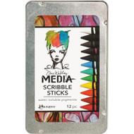 Dina Wakley Media Scribble Sticks 12/Pkg 1