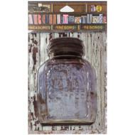 "7 Gypsies Architextures Treasures Adhesive Embellishments - Sunshine Coffee Jar W/Metal Lid 4"""