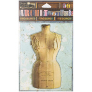 "7 Gypsies Architextures Treasures Adhesive Embellishments - Model 1954 Dress Form 4"""