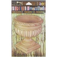 "7 Gypsies Architextures Treasures Adhesive Embellishments - Concrete Urn 4"""