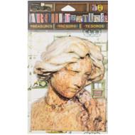 "7 Gypsies Architextures Treasures Adhesive Embellishments - Weathered Lady Statue 4"""