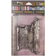 7 Gypsies Architextures Treasures Adhesive Embellishments - Vintage Standard Typewriter