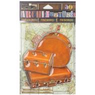 7 Gypsies Architextures Treasures Adhesive Embellishments - 3 Piece Tan Luggage Set