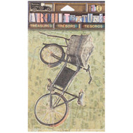 7 Gypsies Architextures Treasures Adhesive Embellishments - 7G Logo Vintage Market Bicycle
