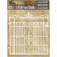 7 Gypsies Architextures Short Base Adhesive Embellishments - Gate