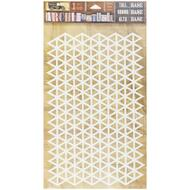 7 Gypsies Architextures Tall Base Adhesive Embellishments - Triangle Grid