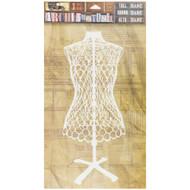7 Gypsies Architextures Tall Base Adhesive Embellishments - Dress Form