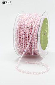 PEARLIZED STRING BEADS - PINK