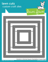 Lawn Fawn - Dies - outside in stitched square stackables (LF1443)