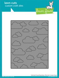 Lawn Fawn - Dies - stitched cloud backdrop: portrait ( LF1424)