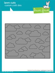 Lawn Fawn - Dies - stitched cloud backdrop: landscape (LF1423)