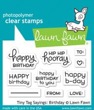 Lawn Fawn -Tiny Tag Sayings: Birthday ( LF1421)