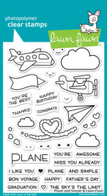 Lawn Fawn -Clear Stamps-Plane & Simple 4x6