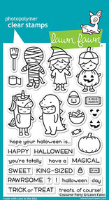 Lawn Fawn 4 x 6 Clear Stamp - Costume Party