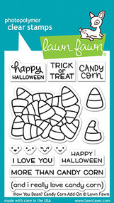 Lawn Fawn 4 x 6 Clear Stamp - How You Bean? Candy Corn add-on (LF1460)