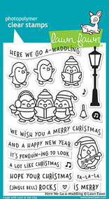 Lawn Fawn 4 x 6 Clear Stamp - Here We Go A-Waddling (LF1468)