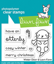 Lawn Fawn 3 x 2 Clear Stamp - Winter Otter
