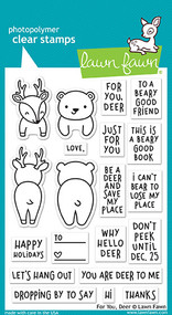 Lawn Fawn 4 x 6 Clear Stamp - For You Deer (LF1480)