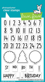 Lawn Fawn 4 x 6 Clear Stamp - Celebration Countdown (LF1476)