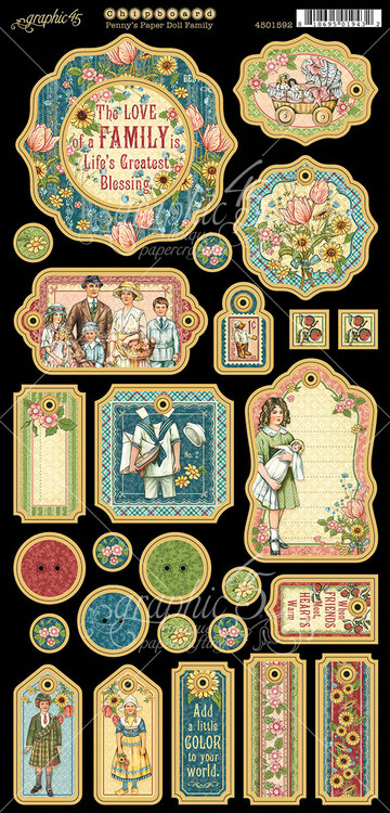 Graphic 45 - Penny's Paper Doll - Chipboard (4501592)