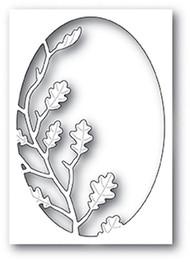 Poppystamp Die - Oak Leaf Oval Collage Craft Die
