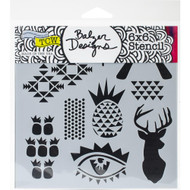 The Crafters Workshop 6 x 6 Stencil - Trendy Images (TCW739)