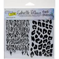 Crafters Workshop 6 x 6 Stencil - Wild Prints (TCW748)