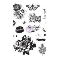 Prima Marketing - Zella Teal 4 x 6 Cling Rubber Stamp (PM-595524)
