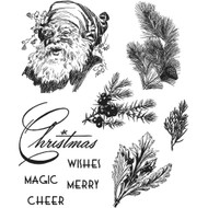 Tim Holtz Cling Rubber Stamp - Christmas Classic (CMS322)